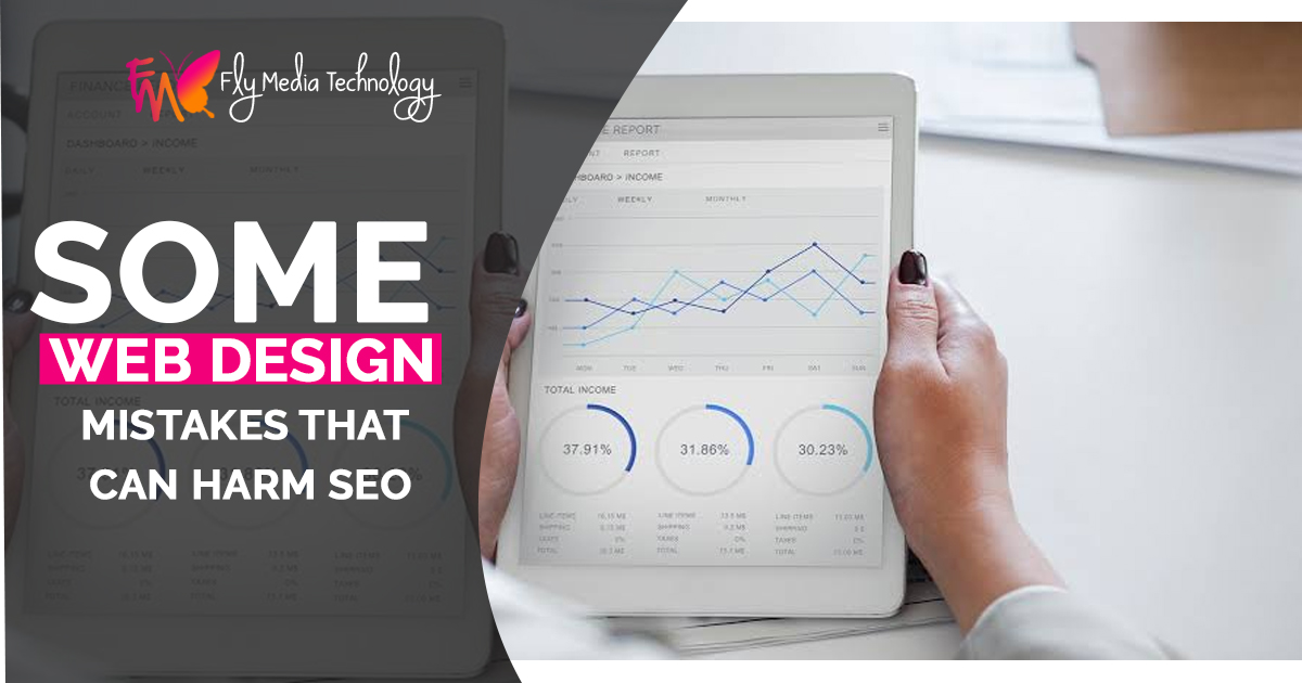 Some Web design mistakes that can harm SEO