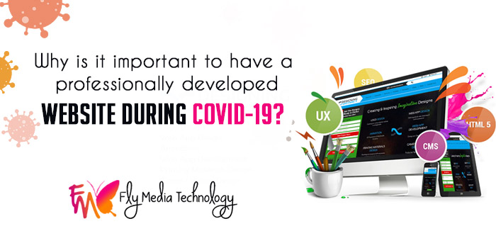 Why is it important to have a professionally developed website during COVID-19?